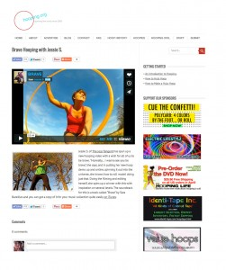 Brave Video Feature on Hooping Dot Org, May 2014, Screen Shot