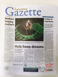 LawrenceGazette2016Article_HulaHoopDreams_FrontCover